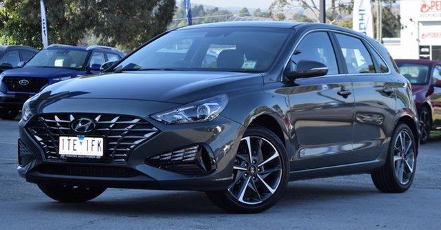 Demo Hyundai i30 PD.V4 MY21 Active Ferntree Gully, 2020 Hyundai i30 PD.V4 MY21 Active Amazon Gray 6 Speed Sports Automatic Hatchback