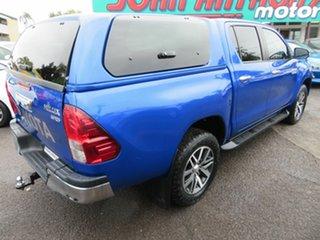 2016 Toyota Hilux GUN126R SR5 Double Cab Blue 6 Speed Sports Automatic Utility