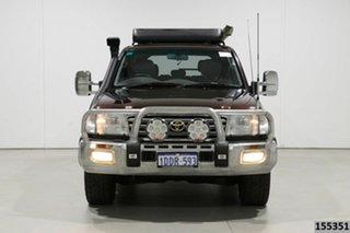 2004 Toyota Landcruiser HDJ100R Sahara (4x4) Maroon 5 Speed Automatic Wagon.