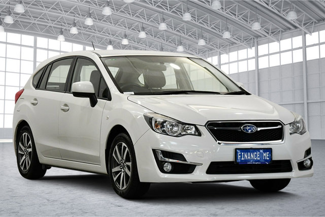 Used Subaru Impreza G4 MY16 2.0i Lineartronic AWD Premium Victoria Park, 2016 Subaru Impreza G4 MY16 2.0i Lineartronic AWD Premium White 6 Speed Constant Variable Hatchback