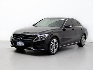 2015 Mercedes-Benz C200 205 Black 7 Speed Automatic Sedan.