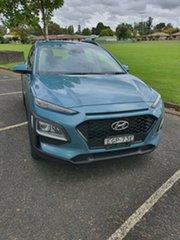 2019 Hyundai Kona OS.3 MY20 Active 2WD Aqua 6 Speed Sports Automatic Wagon.