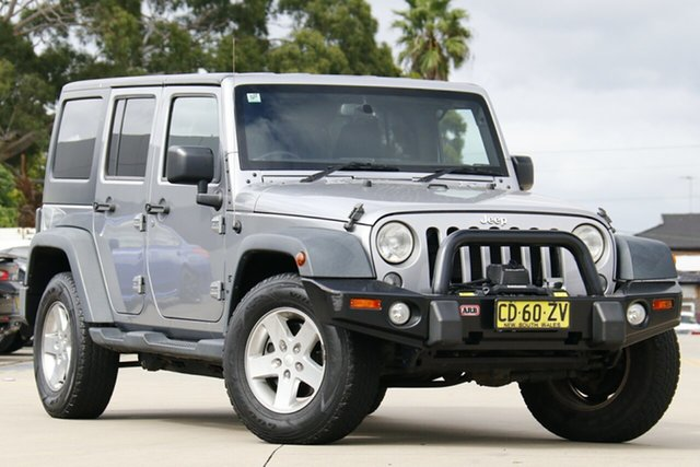 Used Jeep Wrangler JK MY2015 Unlimited Sport Chullora, 2015 Jeep Wrangler JK MY2015 Unlimited Sport Silver 5 Speed Automatic Softtop