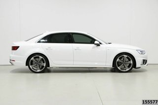 2019 Audi A4 8W MY19 35 TFSI S Tronic Sport White 7 Speed Auto Dual Clutch Sedan