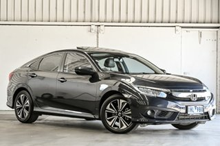 2018 Honda Civic 10th Gen MY18 VTi-LX Blue 1 Speed Constant Variable Sedan.