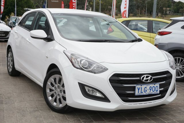 Used Hyundai i30 GD4 Series II MY17 Active Phillip, 2016 Hyundai i30 GD4 Series II MY17 Active Polar White 6 Speed Sports Automatic Hatchback