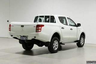 2015 Mitsubishi Triton MQ MY16 GLX (4x4) White 6 Speed Manual Dual Cab Utility