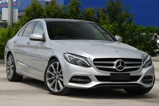 Used Mercedes-Benz C-Class W205 C250 BlueTEC 7G-Tronic + Aspley, 2014 Mercedes-Benz C-Class W205 C250 BlueTEC 7G-Tronic + Silver 7 Speed Sports Automatic Sedan