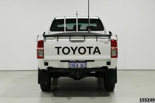 2015 Toyota Hilux KUN26R MY14 SR (4x4) White 5 Speed Manual Dual Cab Pick-up