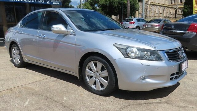 Used Honda Accord 50 V6 Toowoomba, 2008 Honda Accord 50 V6 Silver 5 Speed Automatic Sedan