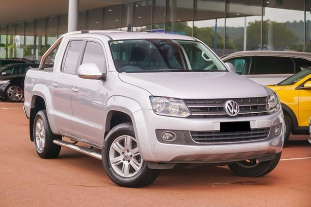 Used Volkswagen Amarok 2H MY15 TDI420 4Motion Perm Highline Gosnells, 2014 Volkswagen Amarok 2H MY15 TDI420 4Motion Perm Highline Silver 8 Speed Automatic Utility