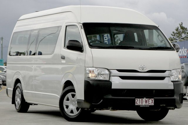 Used Toyota HiAce TRH223R Commuter High Roof Super LWB Aspley, 2016 Toyota HiAce TRH223R Commuter High Roof Super LWB White 6 Speed Automatic Bus