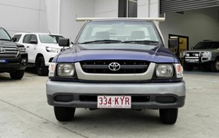 2004 Toyota Hilux RZN149R MY04 4x2 Blue 5 Speed Manual Cab Chassis.