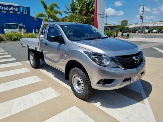 Pre-Owned Mazda BT-50 UR0YE1 XT 4x2 Hi-Rider Gladstone, 2017 Mazda BT-50 UR0YE1 XT 4x2 Hi-Rider Silver 6 Speed Sports Automatic Cab Chassis