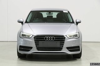 2016 Audi A3 8V MY16 Sportback 1.6 TDI Attraction Silver 7 Speed Auto Direct Shift Hatchback.