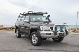 2005 Nissan Patrol GU IV MY05 ST-S Black 4 Speed Automatic Wagon.