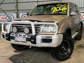 2004 Toyota Landcruiser UZJ100R GXL Gold 5 Speed Automatic Wagon.