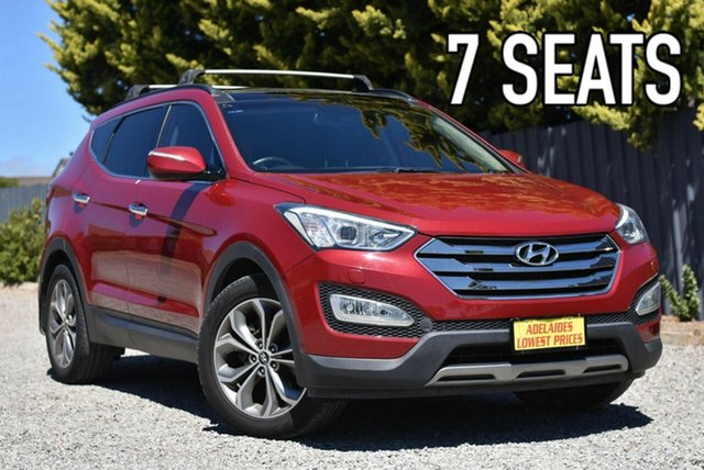 Used Hyundai Santa Fe DM MY14 Highlander Morphett Vale, 2014 Hyundai Santa Fe DM MY14 Highlander Red 6 Speed Sports Automatic Wagon