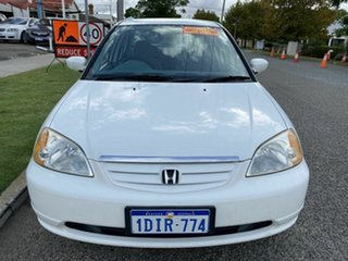 2002 Honda Civic 7th Gen GLi White 4 Speed Automatic Sedan