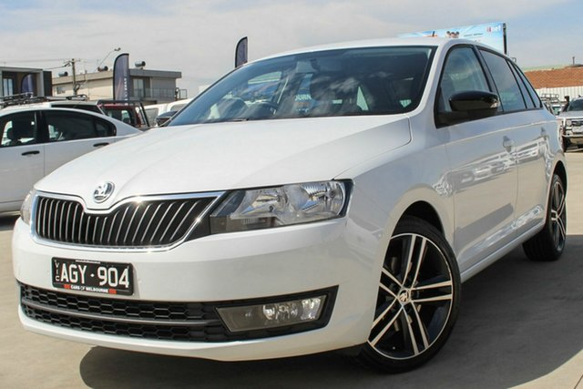Used Skoda Rapid NH MY16 Spaceback DSG Coburg North, 2016 Skoda Rapid NH MY16 Spaceback DSG White 7 Speed Sports Automatic Dual Clutch Hatchback