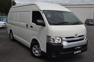 2016 Toyota HiAce KDH221R High Roof Super LWB White 4 Speed Automatic Van.