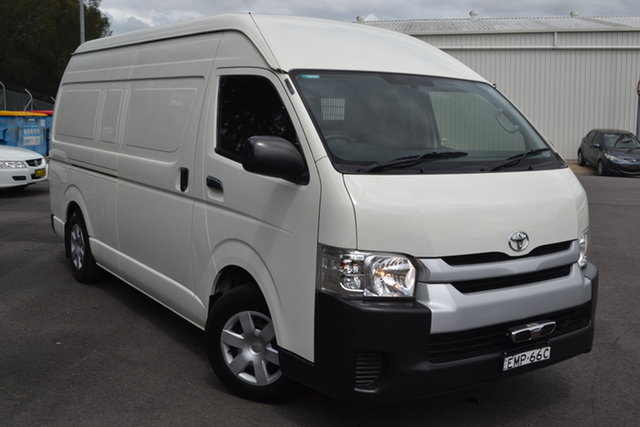 Used Toyota HiAce KDH221R High Roof Super LWB Maitland, 2016 Toyota HiAce KDH221R High Roof Super LWB White 4 Speed Automatic Van