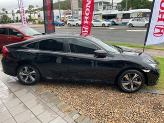 2020 Honda Civic 10th Gen MY20 VTi-LX Crystal Black 1 Speed Constant Variable Sedan.