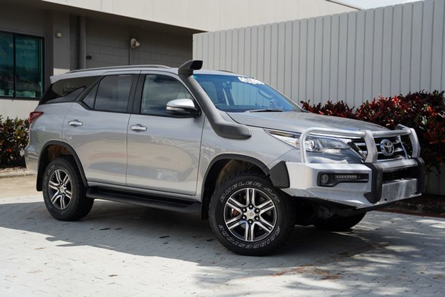 Used Toyota Fortuner GUN156R GXL Cairns, 2016 Toyota Fortuner GUN156R GXL Silver 6 Speed Automatic Wagon
