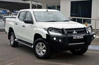 2019 Mitsubishi Triton MR MY19 GLX+ Double Cab White 6 Speed Sports Automatic Utility.