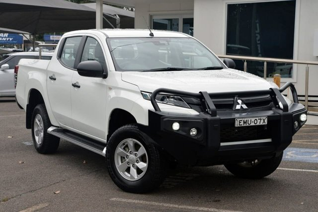Used Mitsubishi Triton MR MY19 GLX+ Double Cab North Gosford, 2019 Mitsubishi Triton MR MY19 GLX+ Double Cab White 6 Speed Sports Automatic Utility