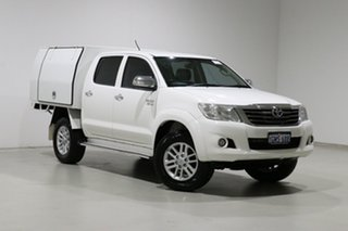 2014 Toyota Hilux GGN15R MY14 SR5 White 5 Speed Automatic Dual Cab Pick-up.