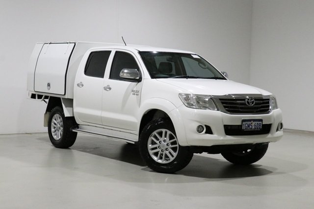 Used Toyota Hilux GGN15R MY14 SR5 Bentley, 2014 Toyota Hilux GGN15R MY14 SR5 White 5 Speed Automatic Dual Cab Pick-up