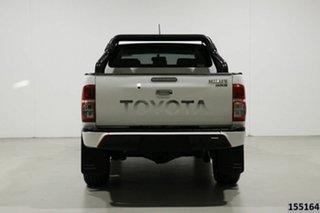 2014 Toyota Hilux KUN26R MY14 SR5 Black (4x4) White 5 Speed Automatic Dual Cab Pick-up