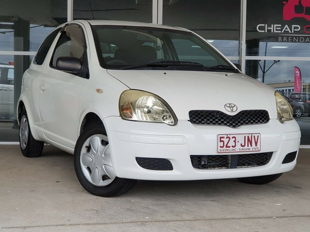 Used Toyota Echo NCP10R MY03 Brendale, 2004 Toyota Echo NCP10R MY03 White 5 Speed Manual Hatchback