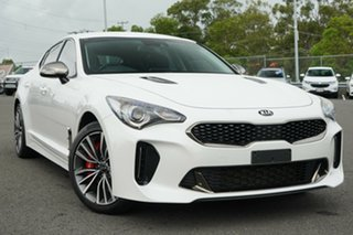 2018 Kia Stinger CK MY19 330S Fastback White 8 Speed Sports Automatic Sedan.