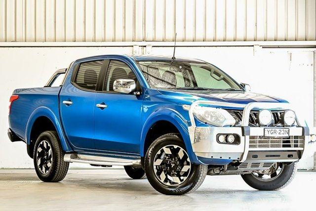 Used Mitsubishi Triton MQ MY17 Exceed Double Cab Laverton North, 2017 Mitsubishi Triton MQ MY17 Exceed Double Cab Blue 5 Speed Sports Automatic Utility