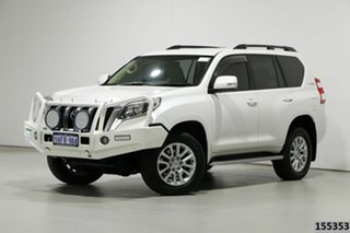 2014 Toyota Landcruiser Prado KDJ150R MY14 VX (4x4) White 5 Speed Sequential Auto Wagon.