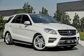 2014 Mercedes-Benz M-Class W166 ML250 BlueTEC 7G-Tronic + White 7 Speed Sports Automatic Wagon.