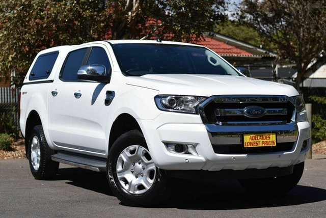 Used Ford Ranger PX MkII 2018.00MY XLT Double Cab 4x2 Hi-Rider Melrose Park, 2017 Ford Ranger PX MkII 2018.00MY XLT Double Cab 4x2 Hi-Rider White 6 Speed Sports Automatic