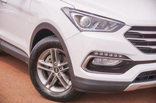2018 Hyundai Santa Fe DM5 MY18 Active White 6 Speed Sports Automatic Wagon.