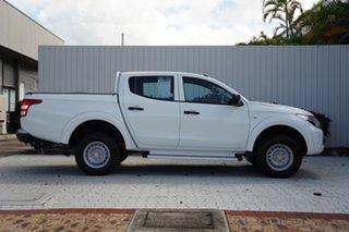 2017 Mitsubishi Triton MQ MY18 GLX Double Cab White 5 Speed Sports Automatic Utility.