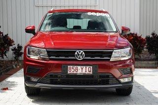 2018 Volkswagen Tiguan 5N MY19 132TSI DSG 4MOTION Comfortline Red 7 Speed.