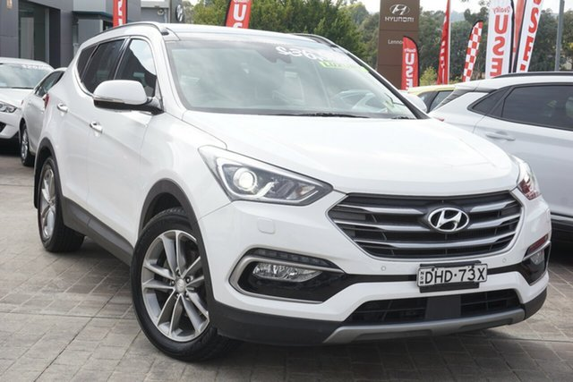 Used Hyundai Santa Fe DM3 MY16 Highlander Phillip, 2016 Hyundai Santa Fe DM3 MY16 Highlander White 6 Speed Sports Automatic Wagon