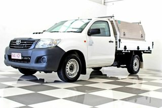 2014 Toyota Hilux KUN16R MY14 Workmate White 5 Speed Manual Cab Chassis