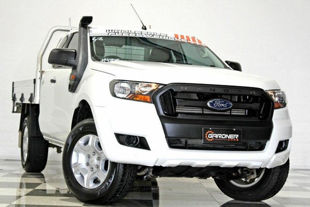 Used Ford Ranger PX MkII MY17 XL 3.2 (4x4) Burleigh Heads, 2016 Ford Ranger PX MkII MY17 XL 3.2 (4x4) White 6 Speed Manual Super Cab Chassis