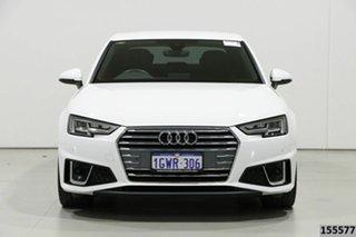 2019 Audi A4 8W MY19 35 TFSI S Tronic Sport White 7 Speed Auto Dual Clutch Sedan.