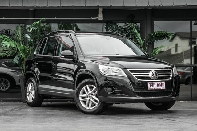 Used Volkswagen Tiguan 5N MY12 155TSI DSG 4MOTION Bowen Hills, 2011 Volkswagen Tiguan 5N MY12 155TSI DSG 4MOTION Black 7 Speed Sports Automatic Dual Clutch Wagon