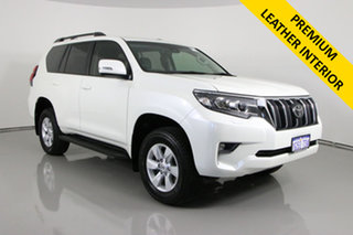 2018 Toyota Landcruiser GDJ150R MY18 Prado GXL (prem Int) (4x4) White 6 Speed Automatic Wagon.