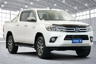2017 Toyota Hilux GUN126R SR5 Double Cab White 6 Speed Sports Automatic Utility.