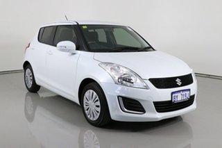 2014 Suzuki Swift FZ GL White 5 Speed Manual Hatchback.